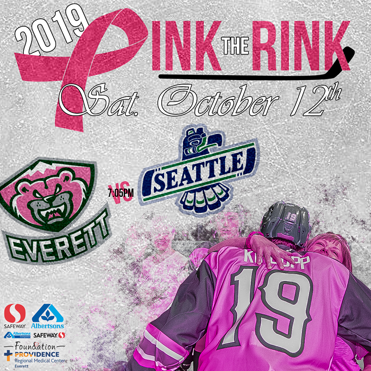 PINK THE RINK - SATURDAY, OCTOBER 12, 2019 <BR> UP TO $7 DONATED PER TICKET